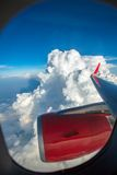 Sky and clouds view from an aircraft Stock Photos