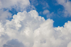 Sky clouds wallpaper blue white wall Royalty Free Stock Images