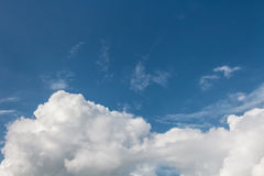 Sky. Clouds and wind in blue sky Royalty Free Stock Images