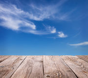 Sky and clouds with wooden Royalty Free Stock Photography