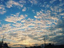 Sky. With cloudy Royalty Free Stock Images