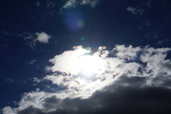 Sky. Cloudy sky in Autumn sunny day Royalty Free Stock Photo