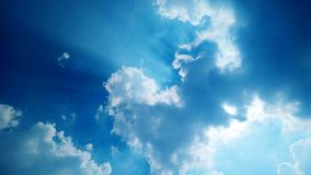 Sky with cloudy. Blue sky with cloudy and sunbeam royalty free stock image