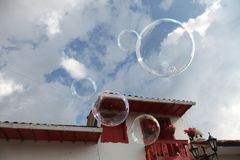 Sky. A cloudy day in bogota city Stock Image