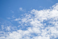 Sky on a cloudy day in the morning. Royalty Free Stock Images