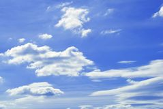 The sky with a cloud. stock photography