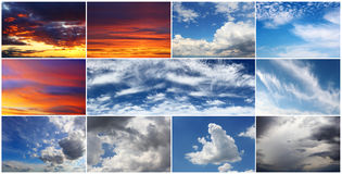 Sky collage Royalty Free Stock Photos