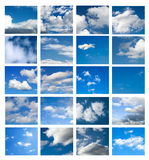 Sky collage Stock Photography