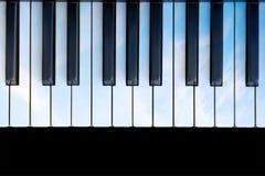 Sky colored piano Stock Image