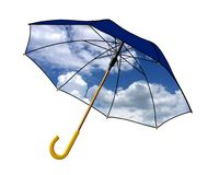 Sky colored umbrella Royalty Free Stock Photography