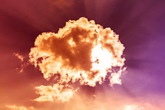 Sky. Colorful clouds blast and sky Stock Photo