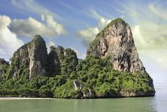 Sky Colors over a Thai Island in Krabi Region Stock Images