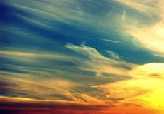 Sky colours Royalty Free Stock Image