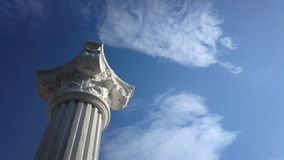Sky and column. Walking on the streets of Balcik I found this beatiful reproduction of art Stock Image