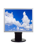 Sky on computer monitor Stock Image
