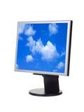 Sky on computer screen stock image