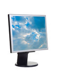 Sky on computer screen Stock Photography