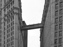 Sky corridor in Chicago stock images