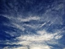 Clouds and beautiful blue skies royalty free stock photos
