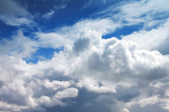 Sky covered with clouds Royalty Free Stock Images