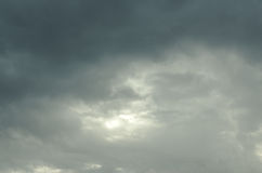 The sky is covered with clouds Stock Photography