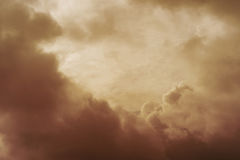 Sky covered with clouds in vintage style. Suitable for backgrounds. Royalty Free Stock Photo