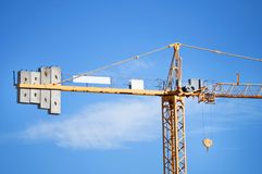 Sky crane. Big sky crane deatil on blue sky Stock Photography