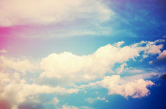 Sky (cross-processed colors) Royalty Free Stock Image