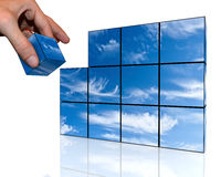 Sky of the cubes Royalty Free Stock Photo