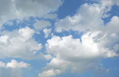 Sky with Cumulus Clouds Royalty Free Stock Photos