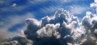 Sky cumulus clouds  background texture Stock Images
