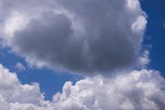 Sky With Cumulus Clouds stock photo