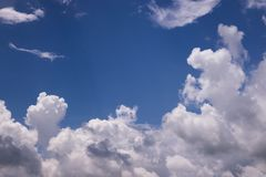 Sky With Cumulus Clouds stock image