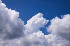 Sky With Cumulus Clouds stock images