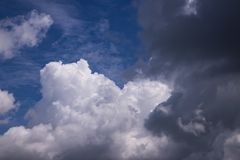 Sky With Cumulus Clouds royalty free stock image