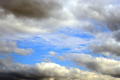 Sky with cumulus clouds. Royalty Free Stock Image