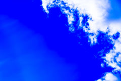 Sky with cumulus clouds and sun. Sky with cumulus clouds and sun rays Stock Photo