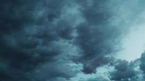 Sky. Dark cloud in sky background Royalty Free Stock Photography