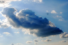 Sky with dark cloud Stock Image