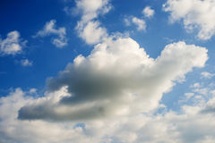 Sky with dark cloud Stock Photos