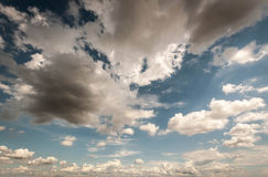 Sky with dark clouds Royalty Free Stock Images