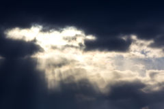 Sky with dark clouds Royalty Free Stock Photos