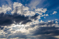 Sky with dark clouds. Royalty Free Stock Photo