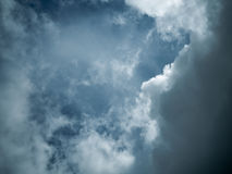 Sky with dark clouds before a thunder storm. Sky with dark clouds before a thunder before storm stock photo