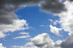 Sky with dark cumulus clouds Royalty Free Stock Image
