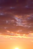 The sky during dawn Royalty Free Stock Photos