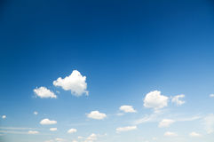 Sky daylight and clouds. Royalty Free Stock Images