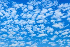 Sky days are a little cloud in the blue sky.  royalty free stock images