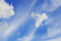 Sky in the daytime. Sky and clouds in the daytime Royalty Free Stock Photos