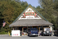 Sky Deli and Liquor store Royalty Free Stock Photo